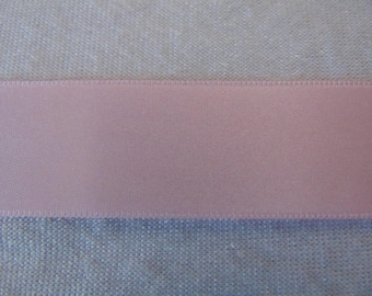 Pink double faced satin ribbon, (S - 265)