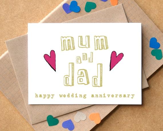 Mum and dad anniversary card parents anniversary card m4hsunfo
