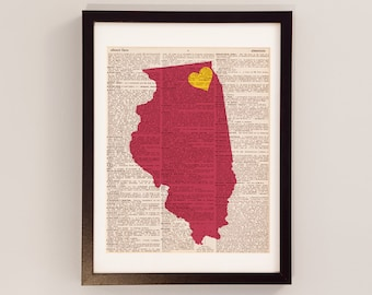Loyola Chicago Dictionary Art Print - Chicago Art - Print on Vintage Dictionary Paper - Loyola University Chicago, Illinois, Ramblers