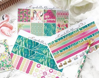 The Resort Erin Condren Horizontal Sized Weekly Kit Planner Stickers