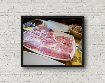 Italienische Fleisch Print / Digital Download / Fine-Art Print / Kunst / Home Decor / Farbe Fotografie / Italien-Food-Fotografie / Küche drucken