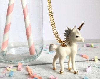 Unicorn Necklace, Unicorn Birthday, Unicorn Jewellery, Unicorn gift, ceramic necklace, mythical jewellery, Unicorn Gift, gifts for her