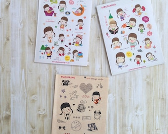 Planner Stickers | 24 Sheets | 300+ Cute Stickers