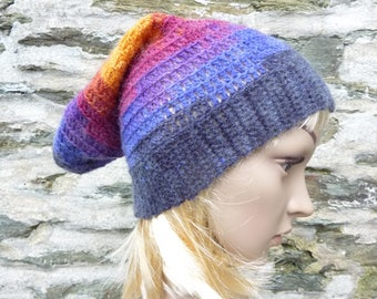 Multicolor crochet hat one size