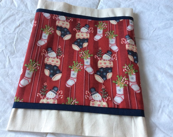 SALE-Snowman Stocking Table Runner