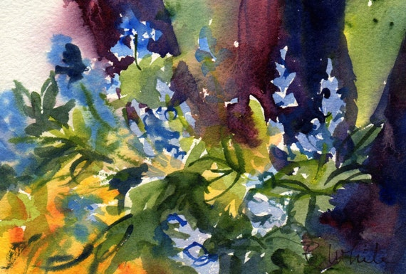 Forest Floor #15 - original watercolor by Bonnie White - water color painting - original art - Columbia Gorge painter