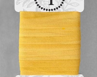 Naturally Dyed 15mm Ribbon-Soft Yellow