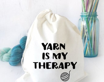 Sock Knitting Bag- Bag for Crochet- Knitting Humor Bag- Yarn Bowl- Yarn Storage- Funny Project Bag- Drawstring Project Bag for Knitting