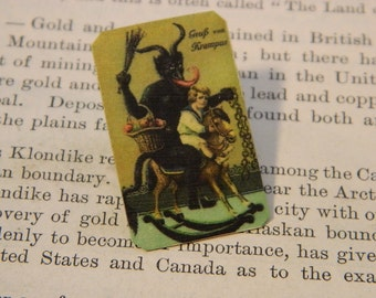 Krampus lapel Pin Krampus Brooch Jewelry Christmas jewelry