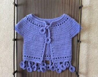 Dancing poppies Bolero/ crochet top/ crochet vest/ girls top/ crochet girls jacket