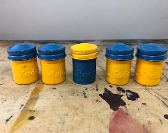 Vintage Kodak Film Cans set of 5, Canisters, Containers, vintage kodak ekachrome x film