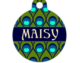 Personalized Pet ID Tag - Maisy Custom Name Pet Tag, Dog Tag, Cat Tag,  Luggage Tag, Child ID Tag