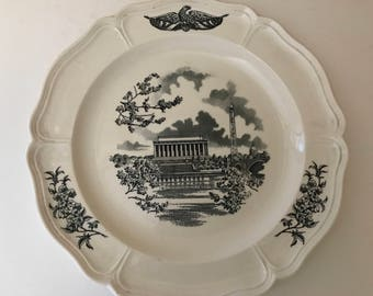 Wedgwood China - Made in England   The Federal City - Panorama Dinner Plate