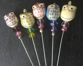 Quirky Owl  Hat Pin