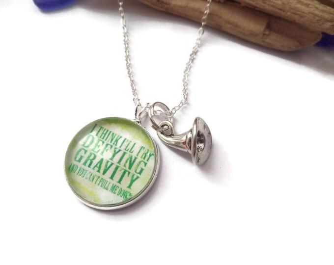 gravity necklace, wicked jewelery, oz jewellery, oz jewelery, defying gravity, defy gravity, witches gift, wicked locket