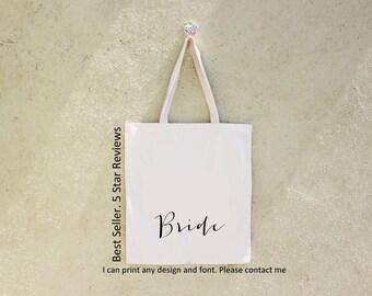 Set of Bridesmaid Tote, Bridesmaid Gift, Personalized Tote Bag, Wedding Party,  Bridesmaid Bag, Personalized Tote, Tote Bag