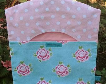 Spots and Roses Peg Bag, Clothes Peg Bag, Shabby Chic, Laundry Bag, Handmade