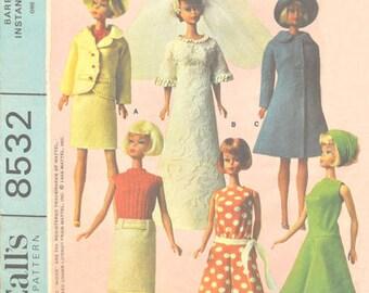 """PDF Vintage Pattern 8532 For 11.5"""" dolls Barbie and similar dolls"""