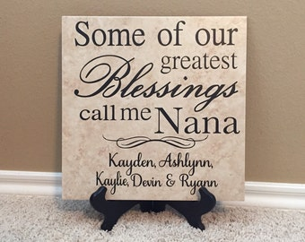 Grandma Gift, Gift for Grandma, Nana gift, Gifts for Nana,  Great Grandma Gift, Grandma to be, Gigi Gift, Gifts for Gigi, Gigi Sign, 12X12
