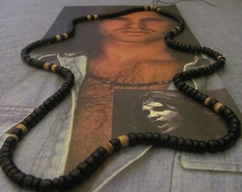 Jim Morrison 1968 Panther Beaded Necklace/Rare original version/Hippie necklace/Hippie Jewelry/rock and roll/hippie bead necklace/rock music
