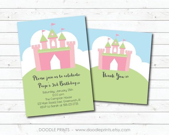 princess castle invitation printable princess birthday