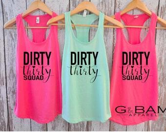 Dirty Thirty / Dirty Thirty Crew /  Birthday Tank top / 30th Birthday tank / 30th Birthday shirt