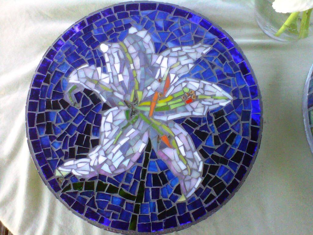 Mosaic Garden Stepping Stones Custom designed stained glass flower mosaic garden stepping zoom workwithnaturefo