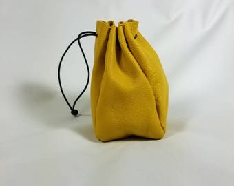 Drawstring Pouch -yellow