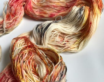 Hand-dyed yarn, Indie dyed yarn, hand dyed yarn MY FAVORITE DRUMMER -- ready to ship -- Staten Island Ferry merino/ nylon sock yarn