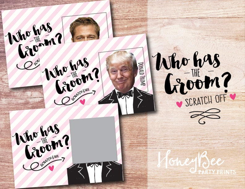 Who has the Groom Scratch off Bridal Shower Game. Funny