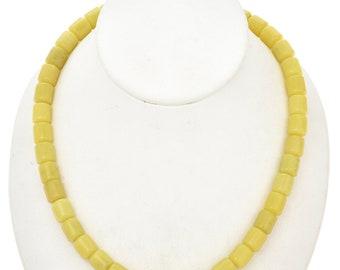 10mm Lemon Serpentine Beads 16 inch Long Strand - Gemstone Beads - Jewelry Supplies