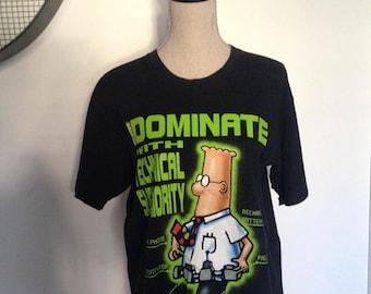 Vintage Dilbert Technology Cartoon T-shirt