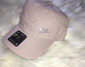 Pale Pink Bling Nike Hat