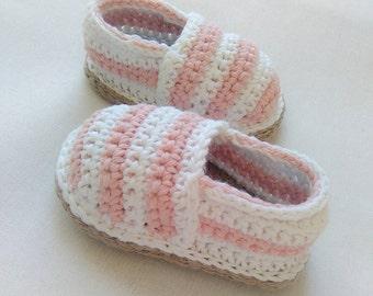 Crochet baby shoes, Espadrilles, crochet espadrilles, girls shoes, gift for baby, baby shoes