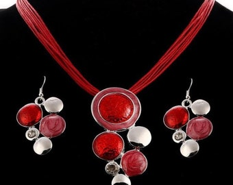 African Style Necklace And Earrings Jewelry Set