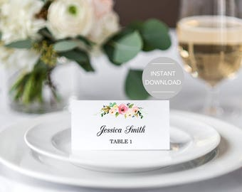 Wedding Place Cards Etsy - Card template free: escort card template
