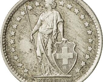 switzerland 1/2 franc 1959 bern ef(40-45) silver km23