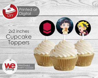 Boruto Cupcake topper Printable Cupcake top ,Boruto Birthday decoration, instant download, DIY