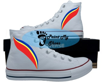 Rainbow shoes, Custom shoes, converse, hand painted shoes, free shipping in the US