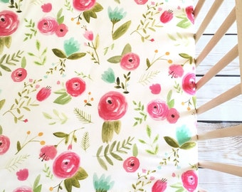 Crib Sheet Pink Peony. Fitted Crib Sheet. Floral Crib Sheet. Baby Bedding. Crib Bedding. Crib Sheets. Floral Crib Sheets. Girl Baby Bedding