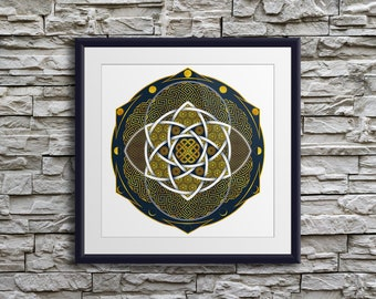 Moon Phases - Giclée Print, Esoteric Mandala, Sacred Geometry