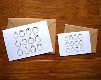Rings Illustration Card.