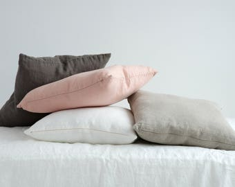 Linen DECORATIVE PILLOW CASE - Linen Cushion Covers - Linen Home Decor - Natural Linen Pillow Case - Linen Throw Pillow - Natural Linen