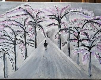 Acrylic Walk In the Snow