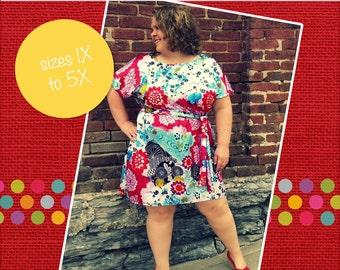 Danika's Women's Plus One-Piece Top and Dress PDF Pattern size 1X to 5X