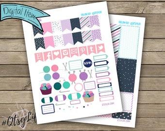 Yarn Arts Printable Planner Sticker Download // The Big Happy Planner // Crochet // Knitting // Planner Accessories // Sticker Kit