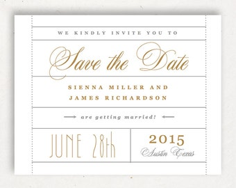 Printable Save the Date Template | INSTANT DOWNLOAD | Ticket | Word or Pages Mac & PC | 4.25x5.5 | Any Colors