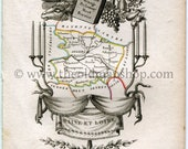 1823 Perrot Map of Maine-...