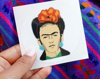 Frida Kahlo Art Sticker, Frida Kahlo Decal, Beadwork Sticker,  Laptop Sticker, Beaded Art, Original Art Sticker, Bumper Sticker