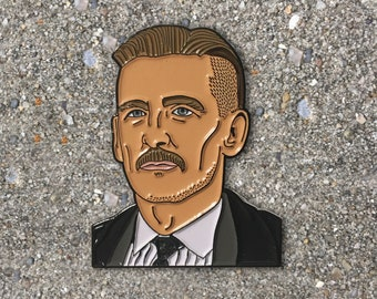 Arthur Shelby Enamel Pin SECONDS, Peaky Blinders gifts, soft enamel, lapel pin, pin game, unofficial, Tommy Shelby, Aunt Polly, backpack pin